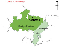 Khajuraho location